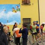 Ovviamente sotto il murales dedicato Gino, Fausto
