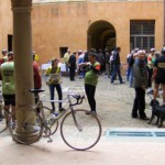 Le biciclette entrano nella Rocca