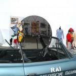 In bella mostra anche una auto d'epoca RAI